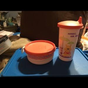 BN Tupperware Winnie the Pooh Feeding Set